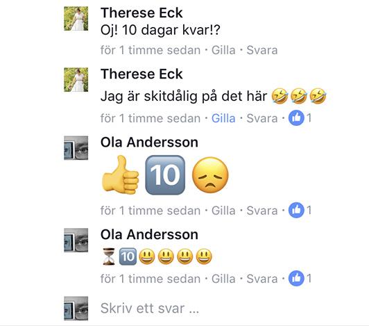 Skärmdump från Facebook-konversation 14