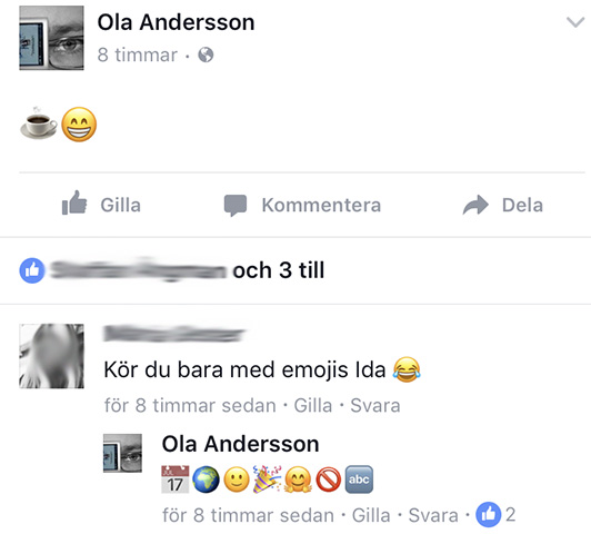 Skärmdump från Facebook-konversation 6