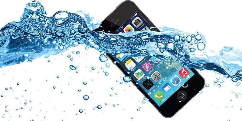 iPhone som tappas i vatten