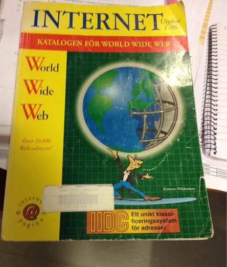 Papperskatalog över The World Wide Web