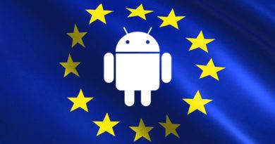 Android-logotypen omgiven av EU-logotypen