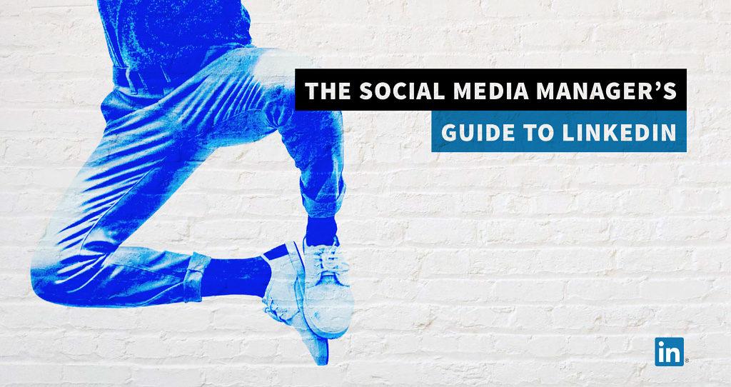 Omslag till LinkedIns handbok för sociala medier-ansvariga