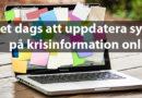Är det dags att uppdatera synen på krisinformation online?